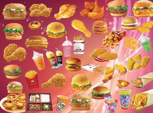 薯条鸡腿汉堡包图片