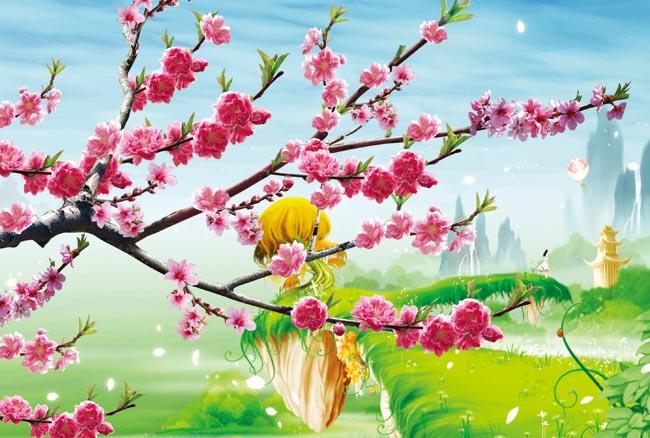 psd素材 自然生态 > 素材信息   关键字: 桃花风景桃花漂亮风景psd