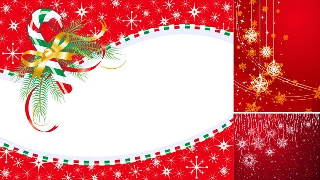 4款圣诞背景矢量素材