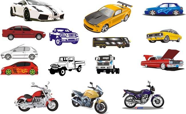 矢量汽车摩托车