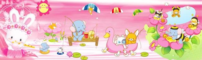 卡通动漫 > 素材信息   关键字: 小太阳幼儿园形象墙卡通可爱幼儿园素