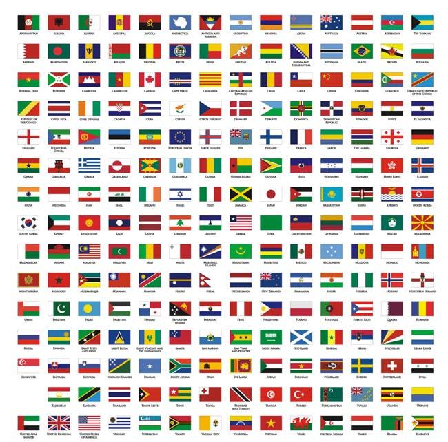 素材/世界各国国旗矢量素材