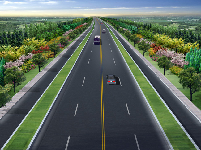 道路景观效果图