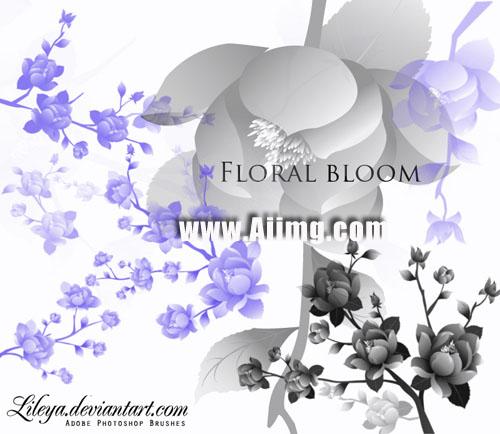 牡丹花笔刷 - 爱图网设计图片素材下载
