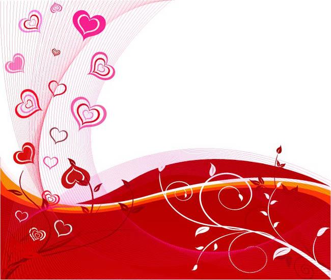 心形 情人节 节日素材 背景底纹 网格 波浪 花藤 藤条 免费 矢量素材