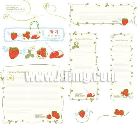 韩国温馨可爱矢量边框素材
