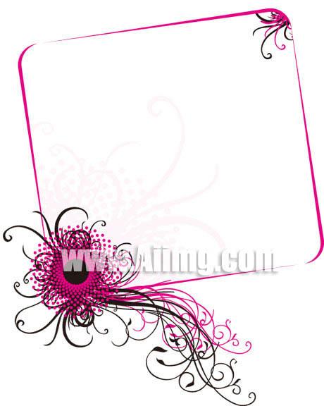 潮流花纹 古典花纹 花朵 夏日框架 婚纱贺卡 欧式 底纹边框 矢量素材