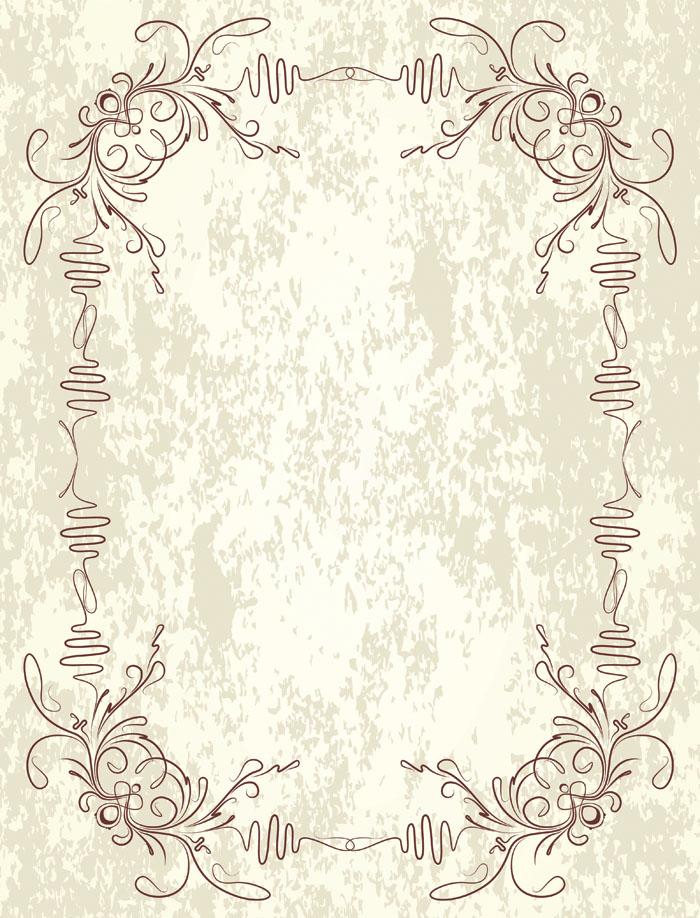 古典边框花纹矢量素材 - 爱图网设计图片素材下载