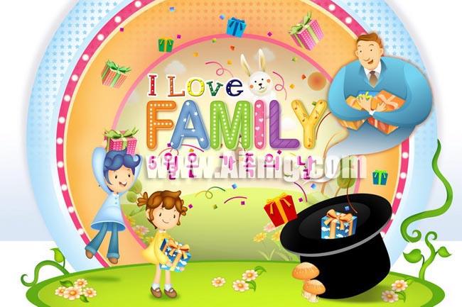psd素材 卡通动漫 韩国模板 卡通模板 儿童卡通 礼物 可爱字体 小兔子