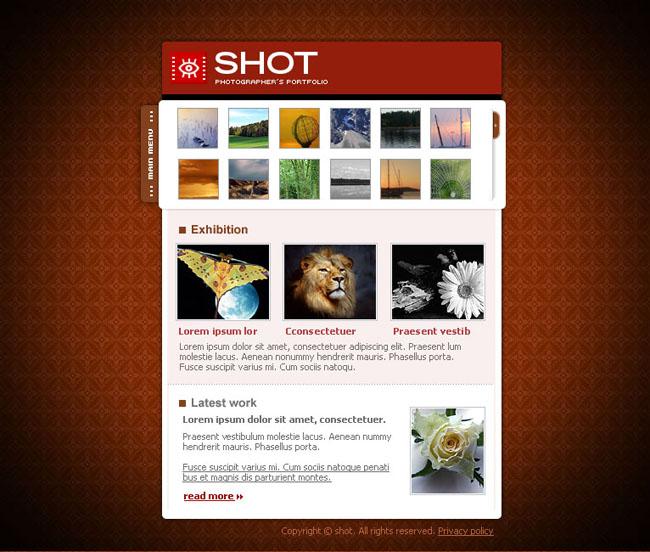 风景画英文网页模板之三 - 爱图网设计图片素材下载