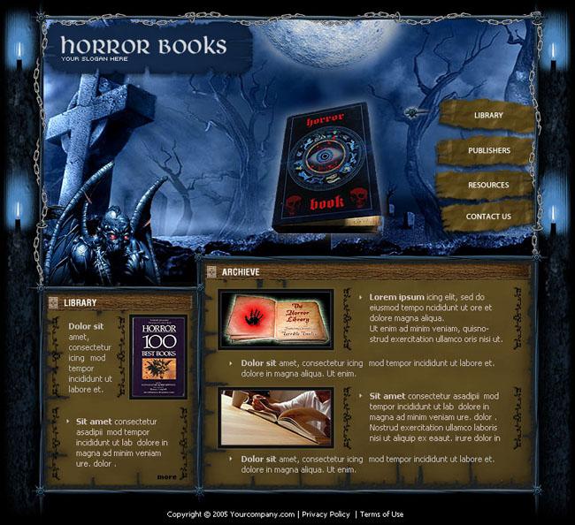 专业游戏网页模板设计