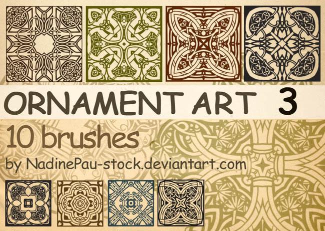 古典花纹图案笔刷