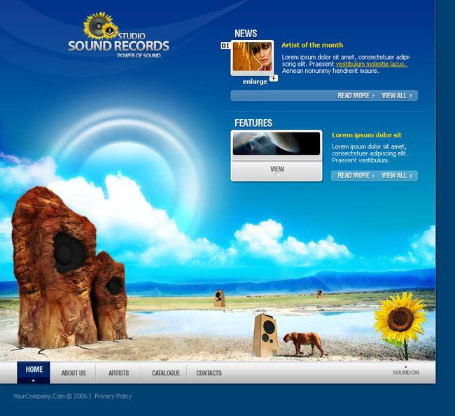 风景创意英文网页模板 - 爱图网设计图片素材下载