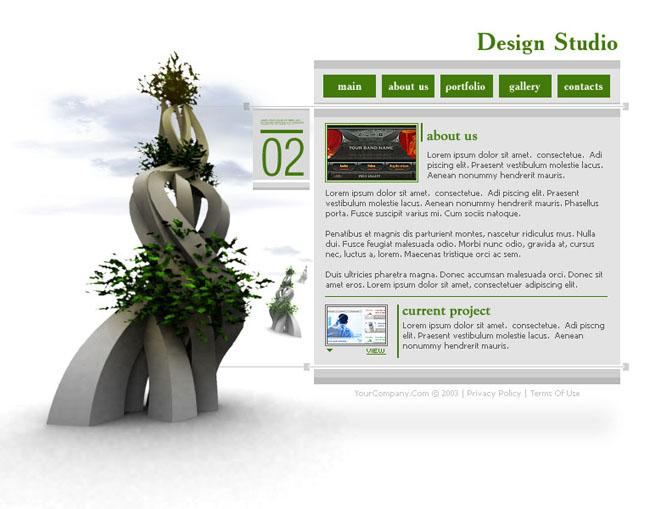 创意白色英文网页模板 - 爱图网设计图片素材下载