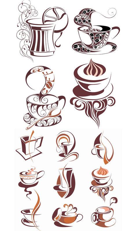 标识标志 > 素材信息   关键字: 咖啡咖啡杯标志logo图形矢量素材免费