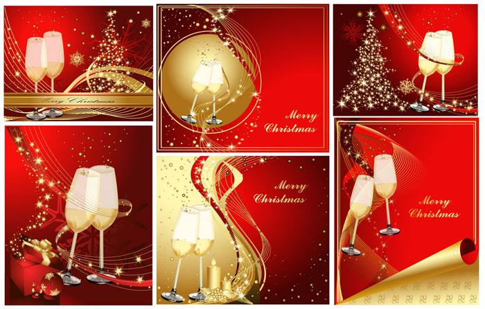 新年喜庆背景矢量素材
