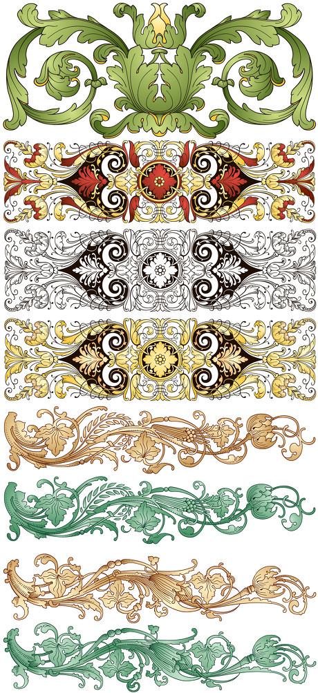 设计元素 > 素材信息   关键字: 古典欧式传统经典龙动物植物花纹装饰