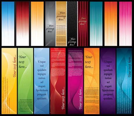 彩色条幅背景矢量素材