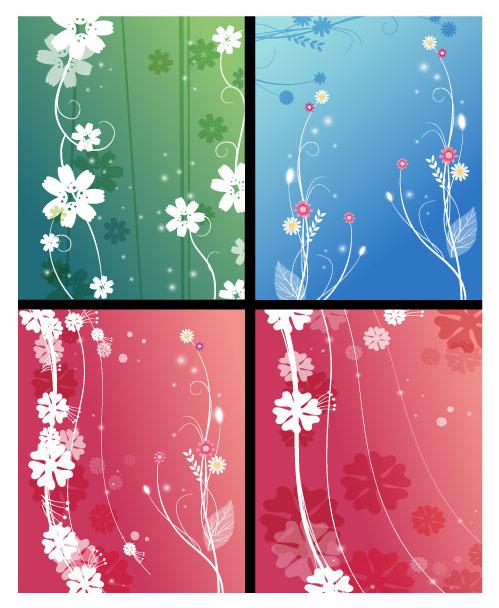 花纹 设计 藤蔓 枝叶 剪影 创意 简约 现代 抽象 花朵 花卉 鲜艳 欧式