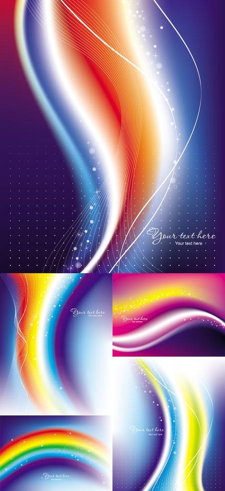 动感彩虹曲线背景矢量素材 - 爱图网设计图片素材下载