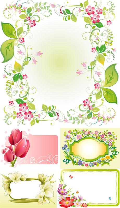 中式古典花纹图片_精美花朵边框矢量素材 - 爱图网设计图片素材下载