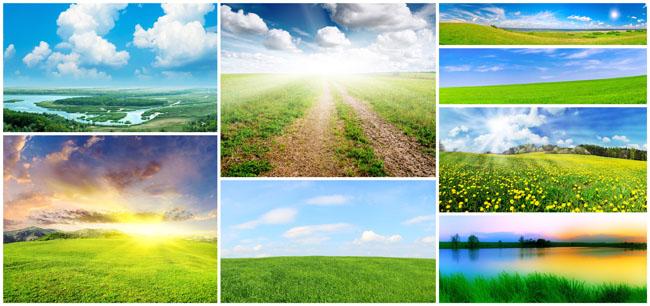 宽幅春天风景高清图片