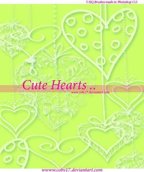 欧式绿色爱心形花边图片大全