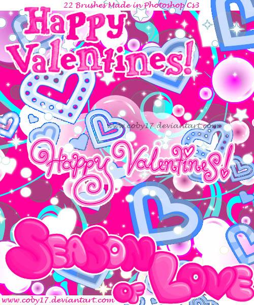 爱心笔刷(love glitters and hearts)