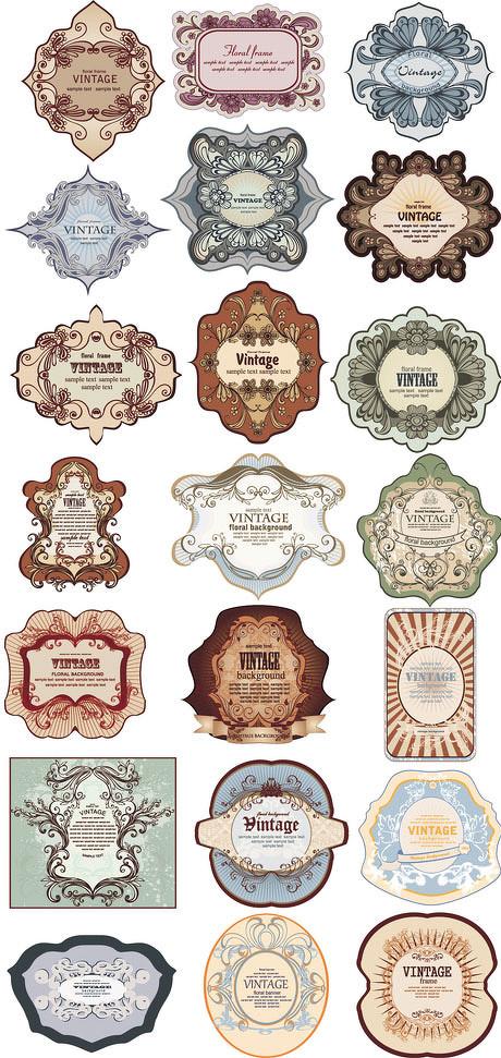 爱图首页 矢量素材 标识标志 复古 时尚 图标 标志 图案 贴纸 欧式