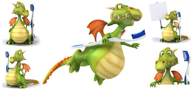 小洗衣机_卡通恐龙与牙刷高清图片 - 爱图网设计图片素材下载