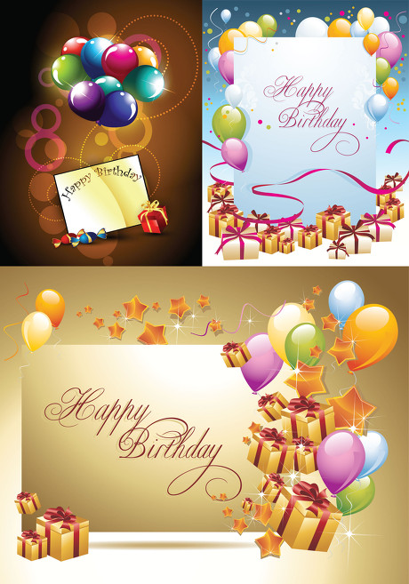 庆祝生日的唯美图片_生日庆祝元素矢量素材 - 爱图网设计图片素材下载