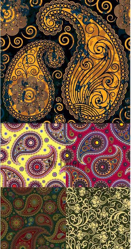 5款华丽古典装饰花纹背景矢量素材