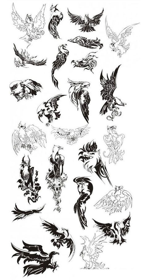 爱图首页 矢量素材 花边花角 老鹰 纹身 动物 矢量图素材 雄鹰 标志