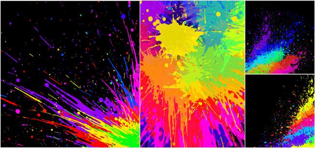 油漆溅射艺术效果背景矢量素材