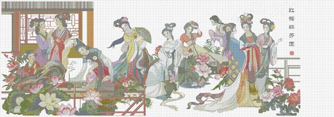 红楼十二钗_名著红楼梦人物矢量素材 - 爱图网设计图片素材下载