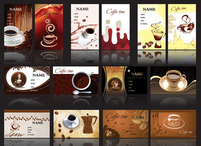 咖啡店古典欧式个性名片时尚名片名片设计名片模板