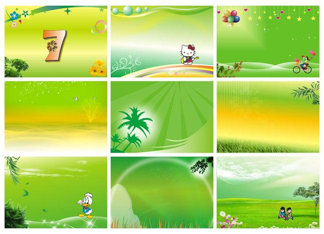 绿色展板背景矢量素材