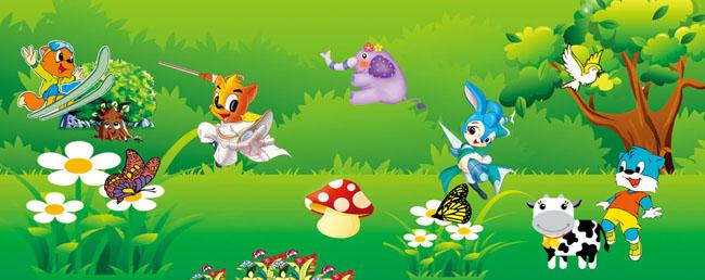ps儿童背景素材_卡通形象幼儿园素材 - 爱图网设计图片素材下载