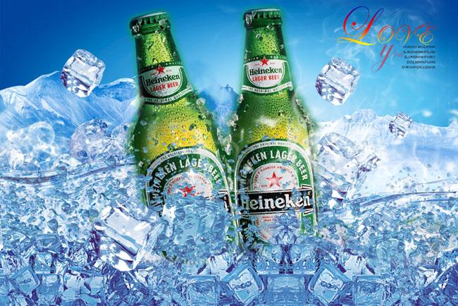 冰啤酒宣传海报psd素材