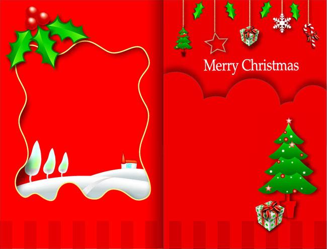 圣诞节贺卡设计矢量素材