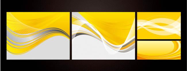 黄白底色背景矢量素