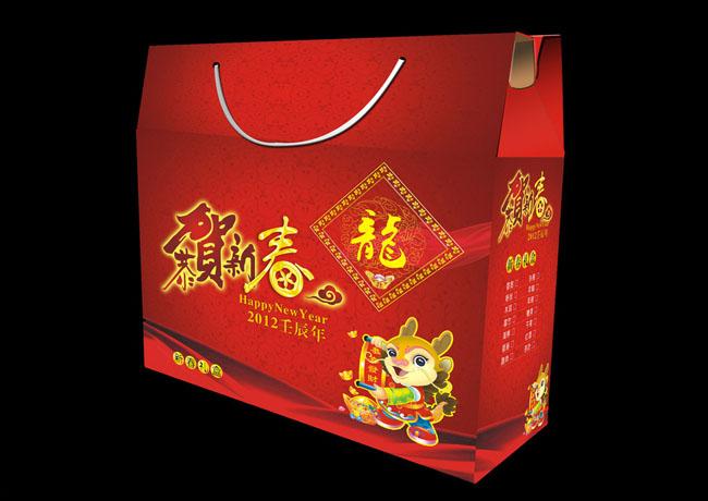 龙年礼盒包装设计矢量素材