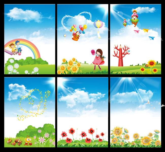 儿童云朵手工制作画