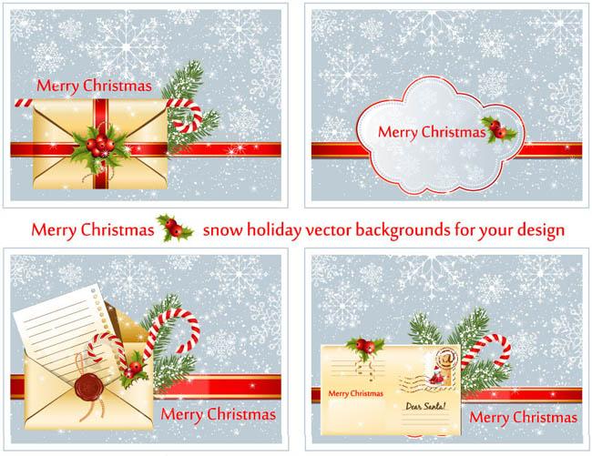 圣诞狂欢促销海报设计矢量素材 圣诞节贺卡卡片设计矢量素材 圣诞元旦
