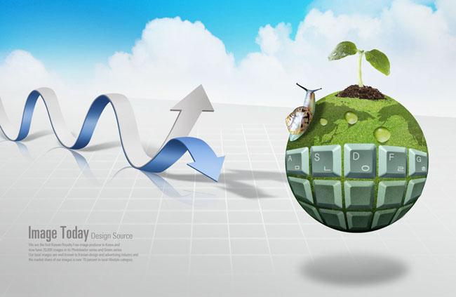 低碳环保标志 环保创意海报 国外创意环保海报