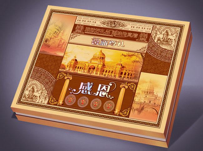 感恩月饼包装盒设计模板 - 爱图网设计图片素材下载