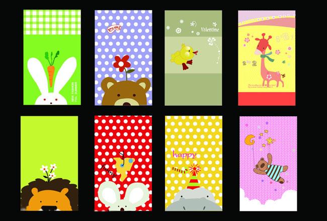 卡通动物小本子封面设计矢量素材图片