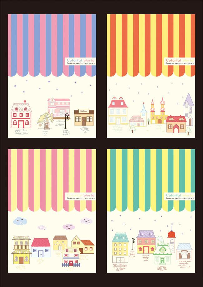 可爱卡通日记本封面设计psd素材
