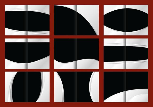 黑白五金画册封面设计矢量素材