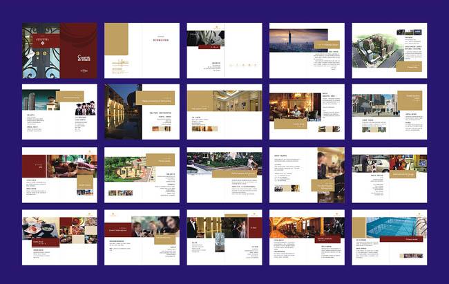 地产杂志画册版式设计矢量素材图片
